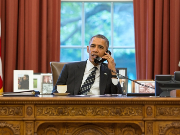 President Obama Speaks With President Rouhani Of Iran