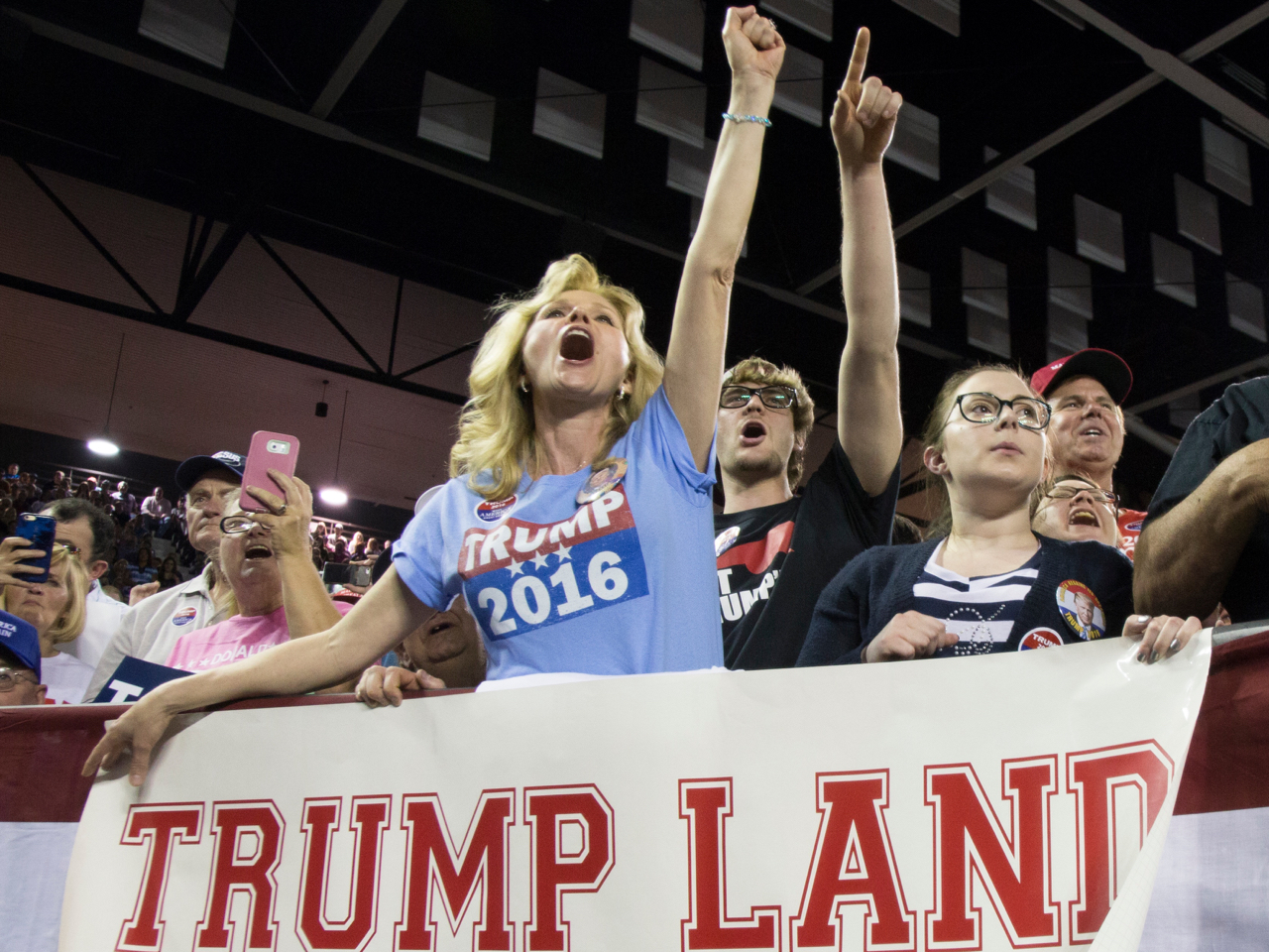 Donald Trump Holds Campaign Rally At Valdosta State University In Georgia