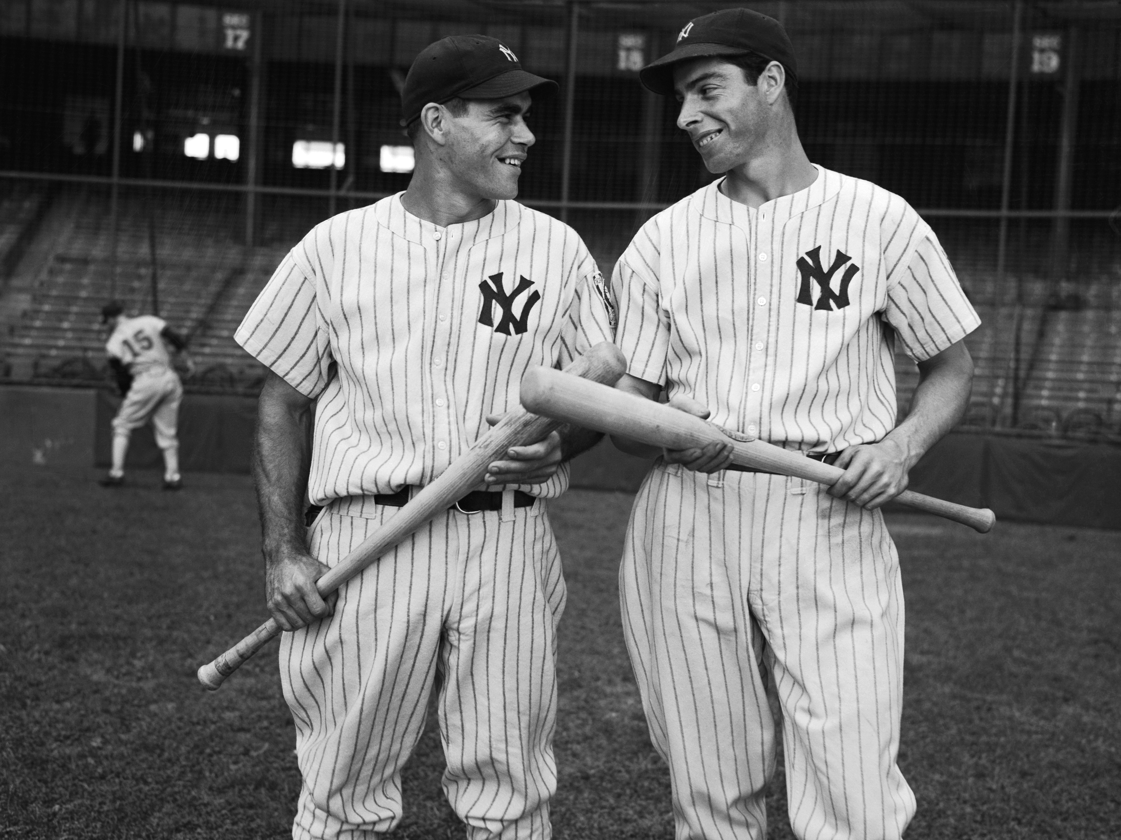 Portrait of Joe DiMaggio with Charlie Keller