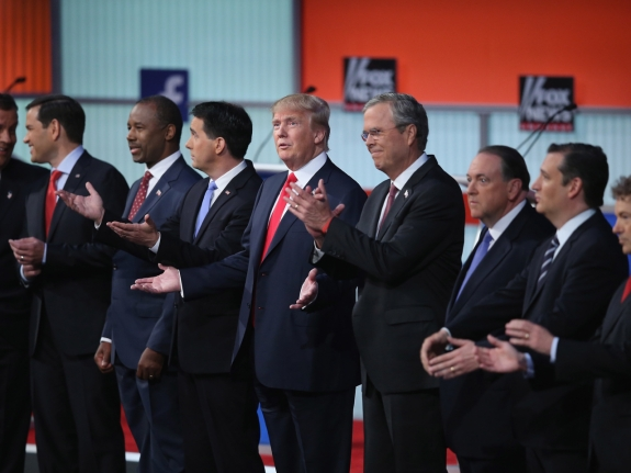 Top-Polling GOP Candidates Participate In First Republican Presidential Debate