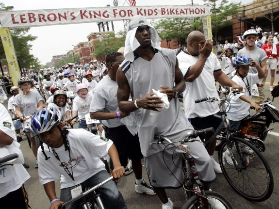 Lebron James Bikeathon