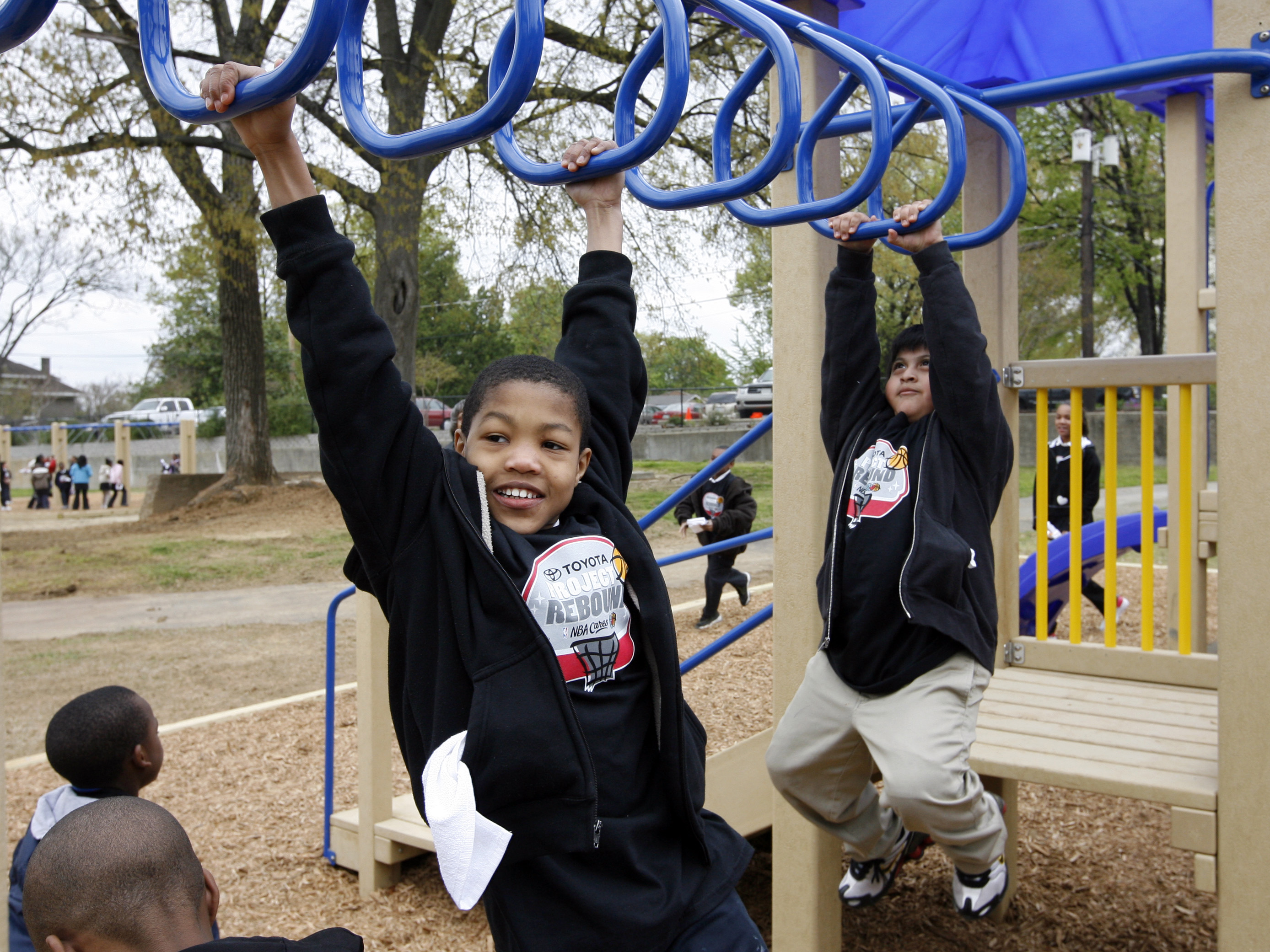 Memphis Grizzlies NBA Cares Playground Dedication