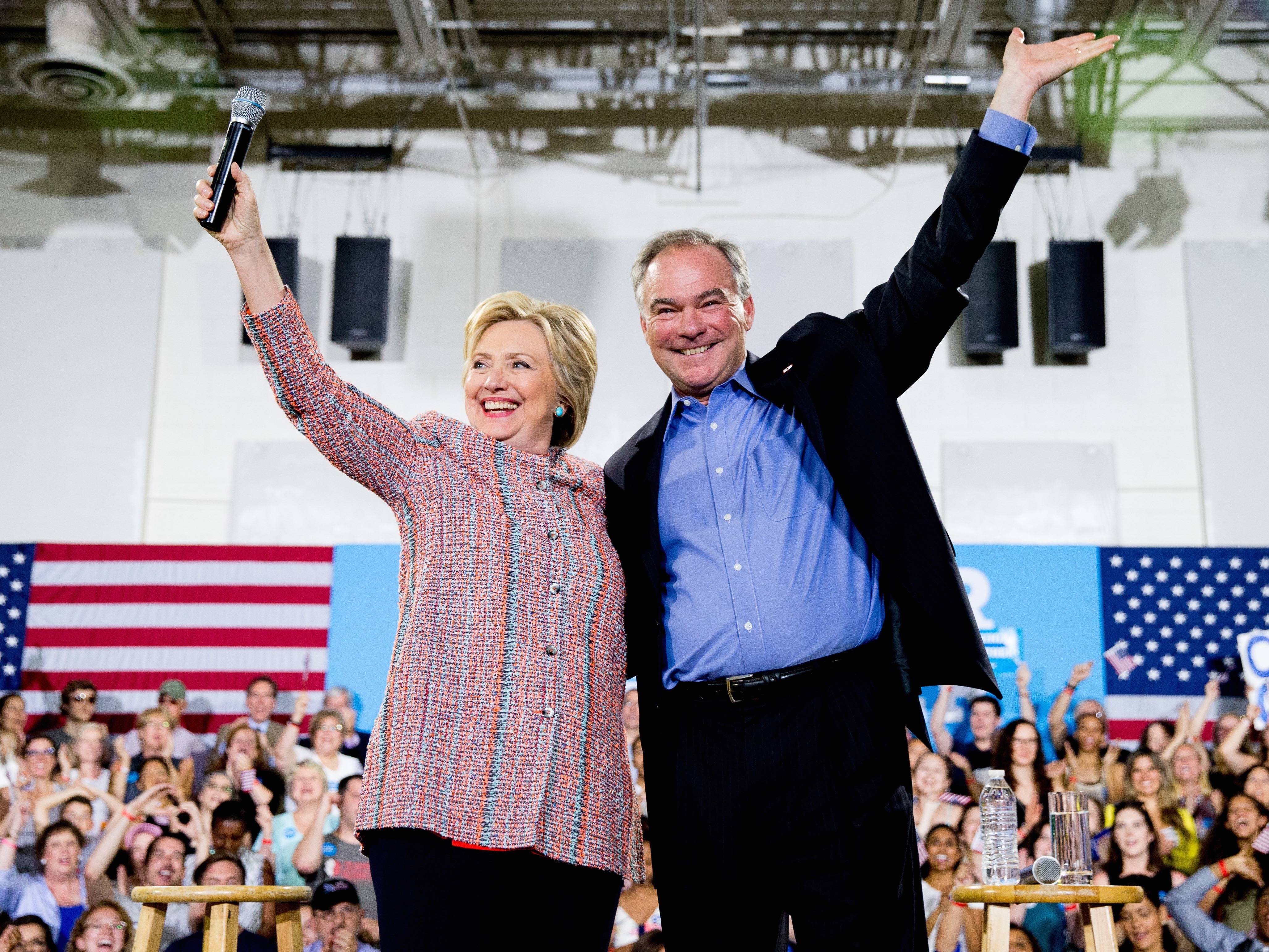 Hillary Clinton,Tim Kaine