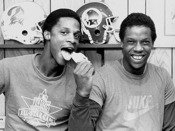 Teamwork: New YOrk Mets' Darryl Strawberry (left) and Dwight