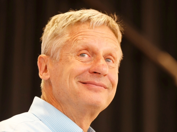 Libertarian Presidential Candidate Speaks At University Of Utah In Salt Lake City