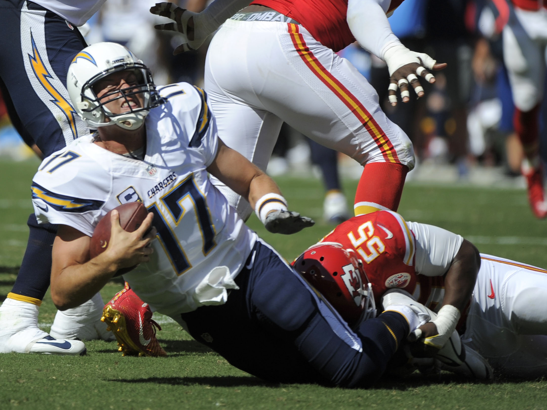 Dee Ford,Philip Rivers