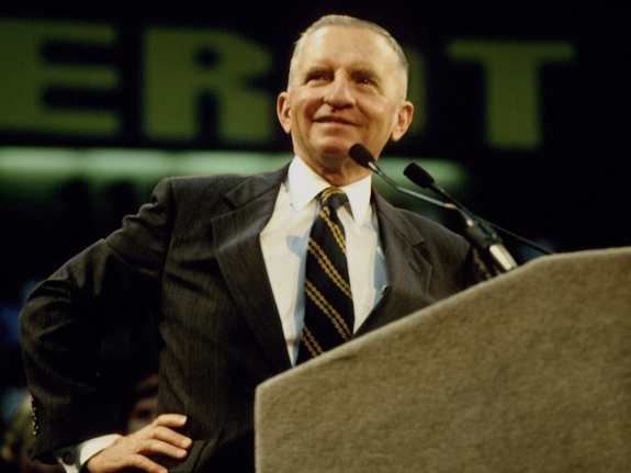 CANDIDATE ROSS PEROT'S LAST ELECTORAL MEETING