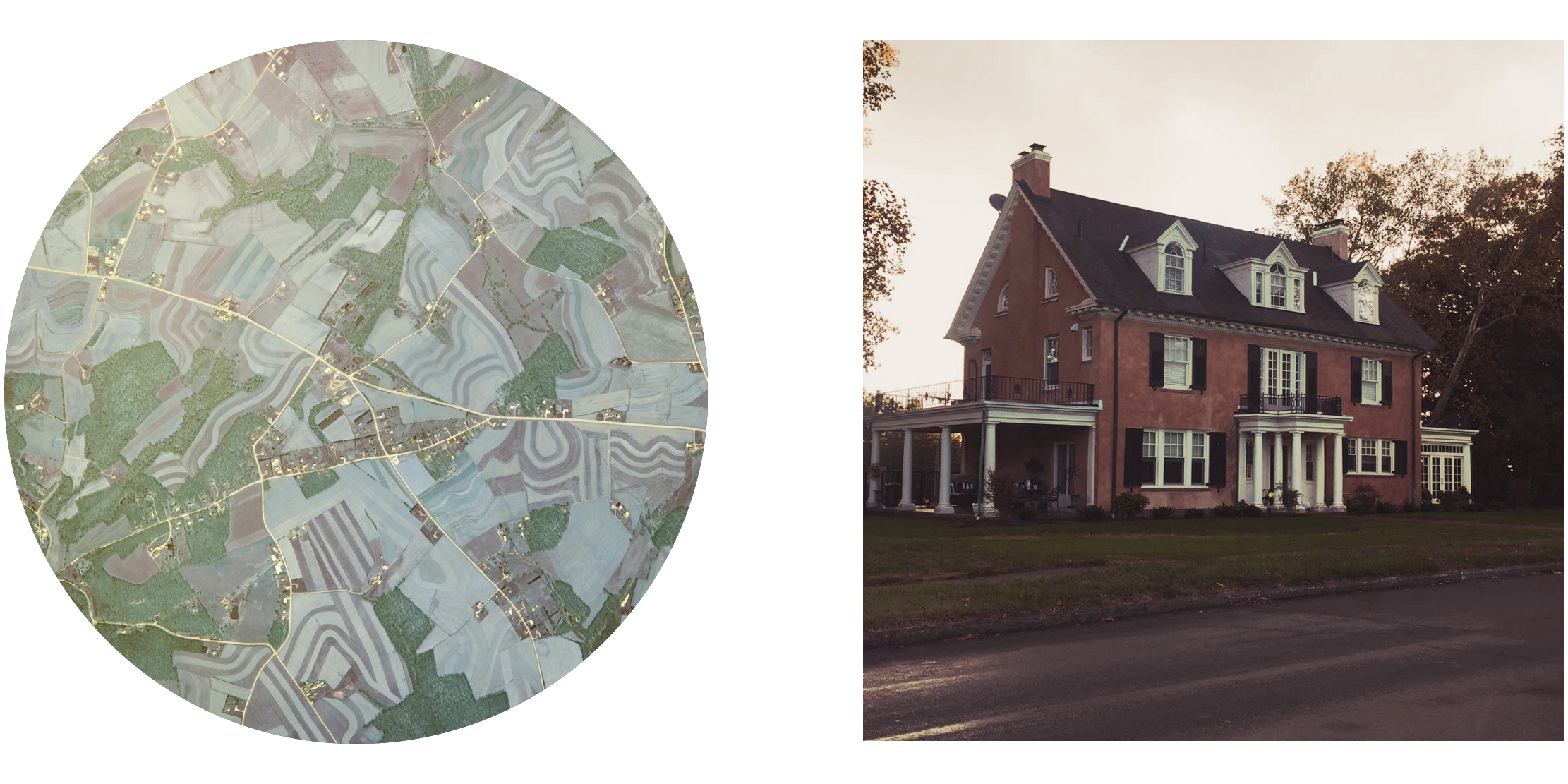 Satellite of Berks County, Pennsylvania; Taylor Swift's childhood home in Wyomissing, Pennsylvania..