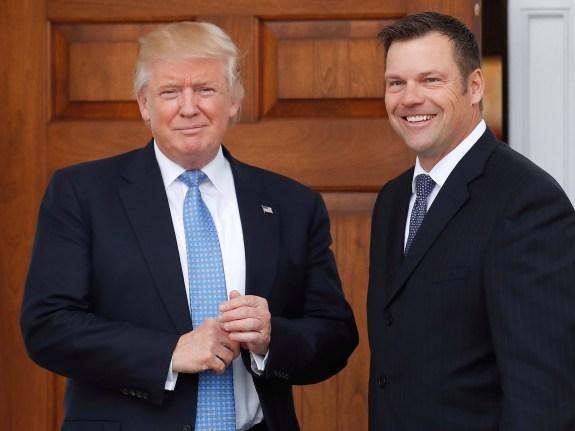 Donald Trump,Kris Kobach