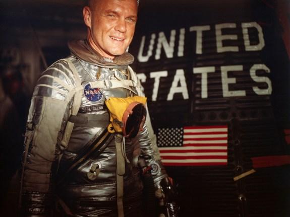 American Astronaut John Glenn Entering Capsule