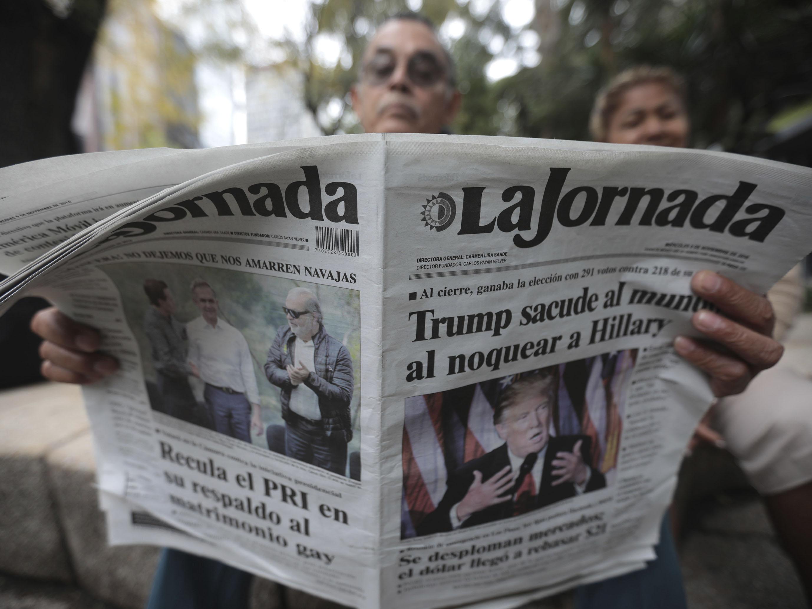 Reactions in Mexico over Donald Trump Triumph