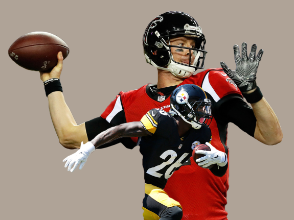 0eb0288b44b NFL Conference Championship Previews: Are Matt Ryan And Le'Veon Bell For  Real?
