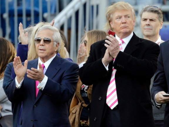 Robert Kraft, Donald Trump
