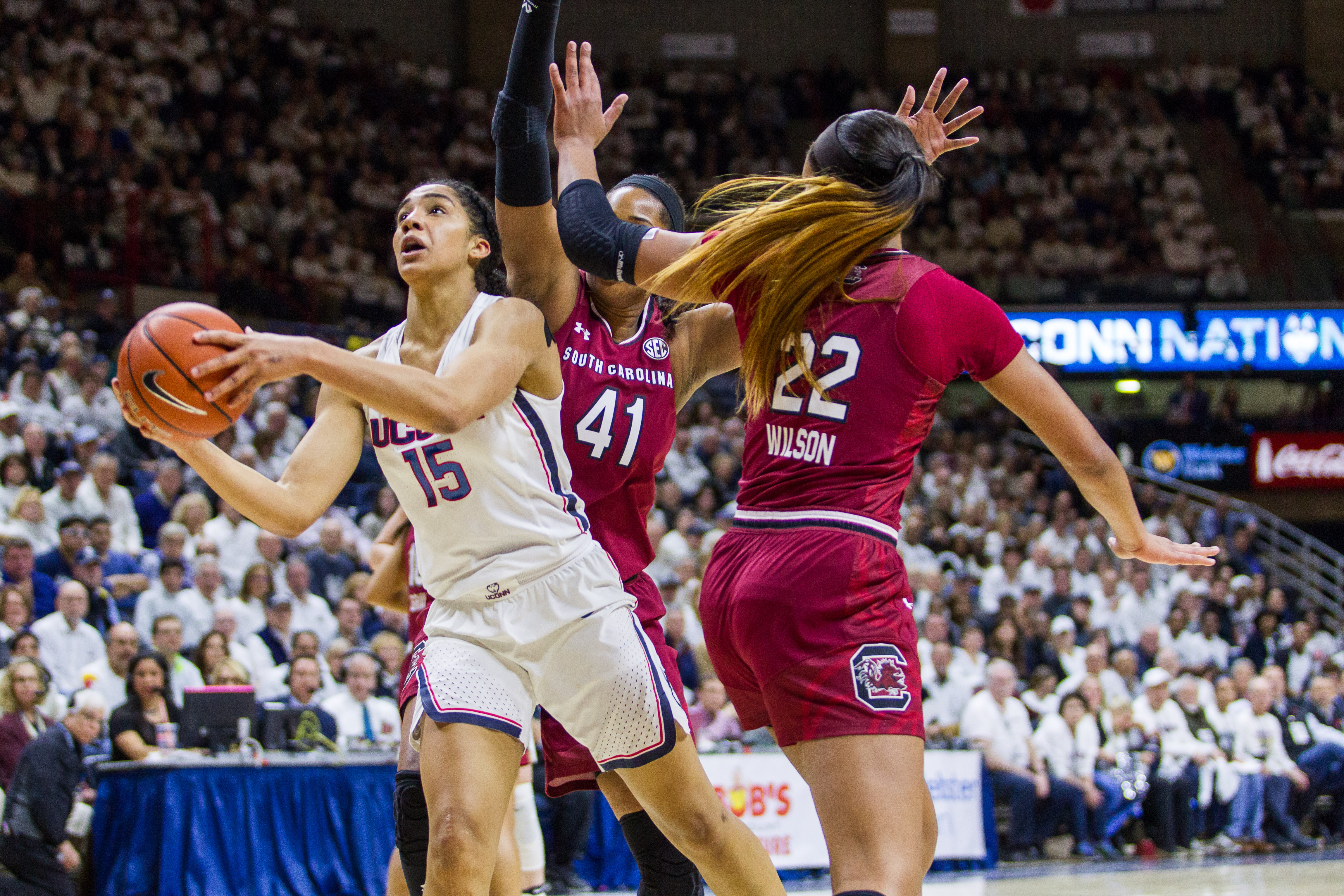 COLLEGE BASKETBALL: FEB 13 Women's – South Carolina at UConn