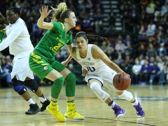 COLLEGE BASKETBALL: MAR 03 PAC-12 Women's Tournament – Washington v Oregon