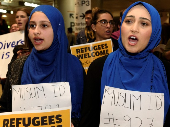 Protest Against Muslim Ban At LAX Airport