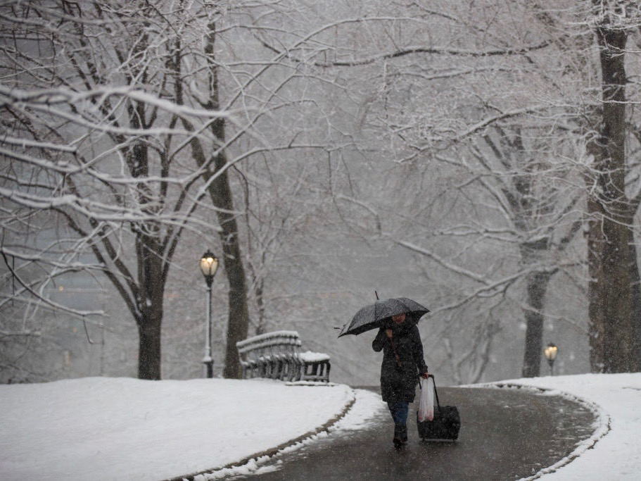 Return Of Winter Temperatures And Snow In New York City