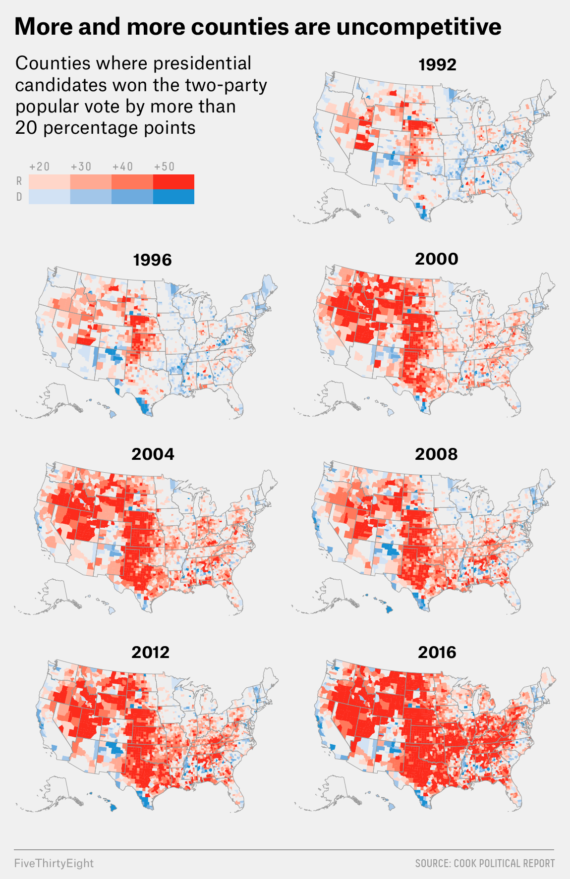 Purple America Has All But Disappeared | FiveThirtyEight