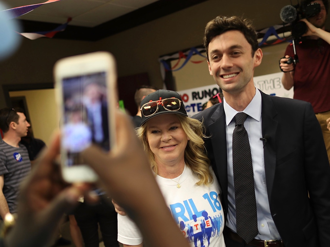 Democratic Congressional Candidate For Georgia's 6th District Jon Ossoff Campaigns Ahead Of Tuesday's Special Election