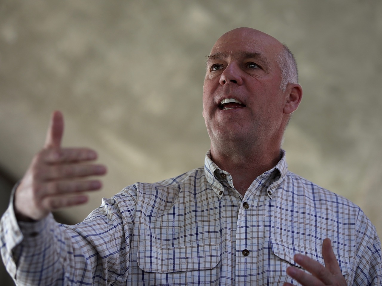 GOP Congressional Candidate Greg Gianforte Campaigns In Great Falls, MT