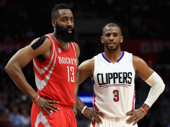 e3c3dfa3e7ba Houston Rockets v Los Angeles Clippers. James Harden and Chris Paul ...