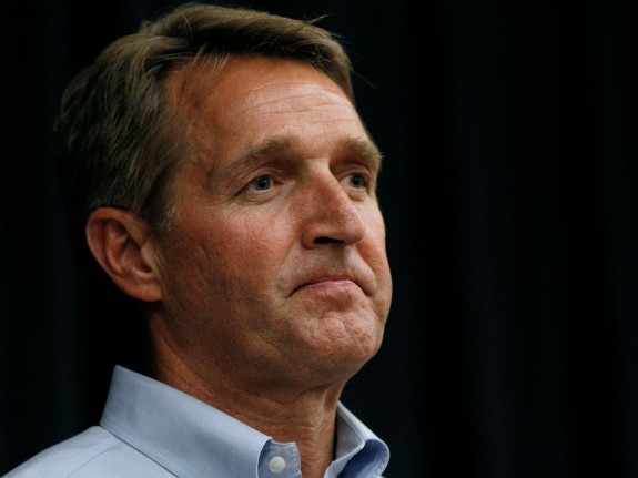 Sen. Jeff Flake (R-AZ) Holds Town Hall In Mesa, Arizona
