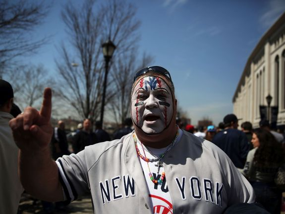 Fans Make Pilgrimage To Yankee Stadium For Opening Day
