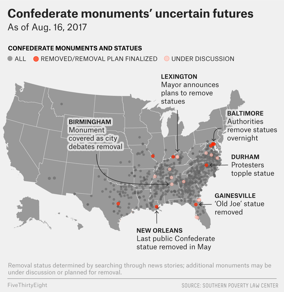 There Are Still More Than 700 Confederate Monuments In The U.S. ...