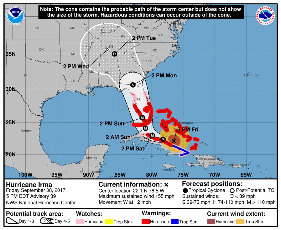 The Worst Case Scenario For Hurricane Irma Looks Likely