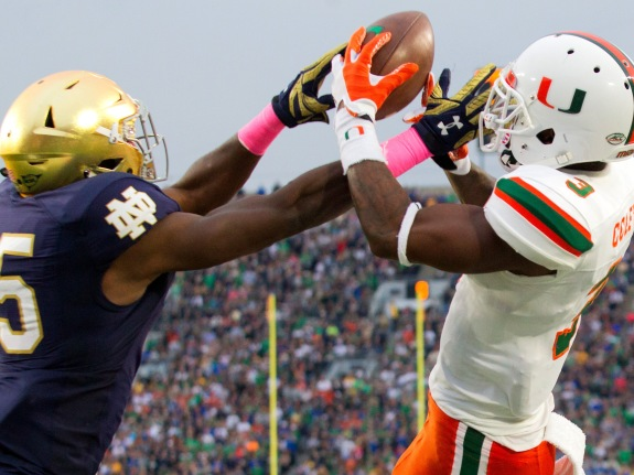 NCAA FOOTBALL: OCT 29 Miami at Notre Dame