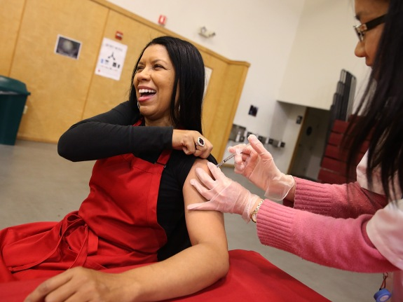 Oakland Residents Receive Free Flu Shots At Local Church