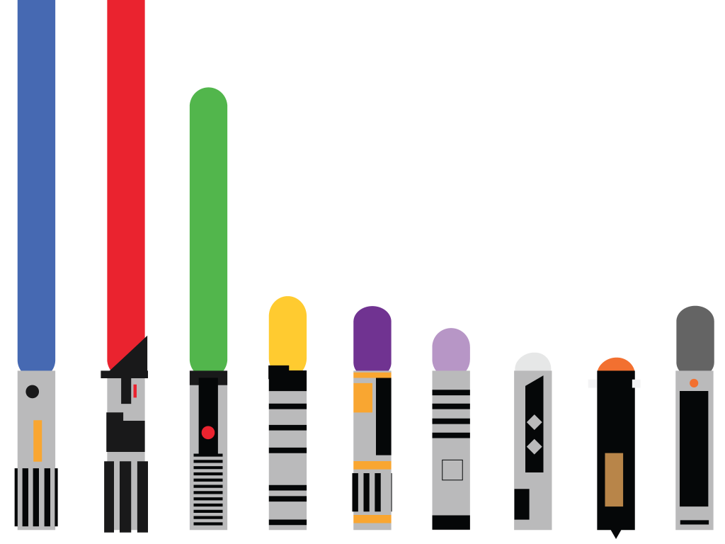 Every Color Of Every Lightsaber In Star Wars In One Chart Fivethirtyeight