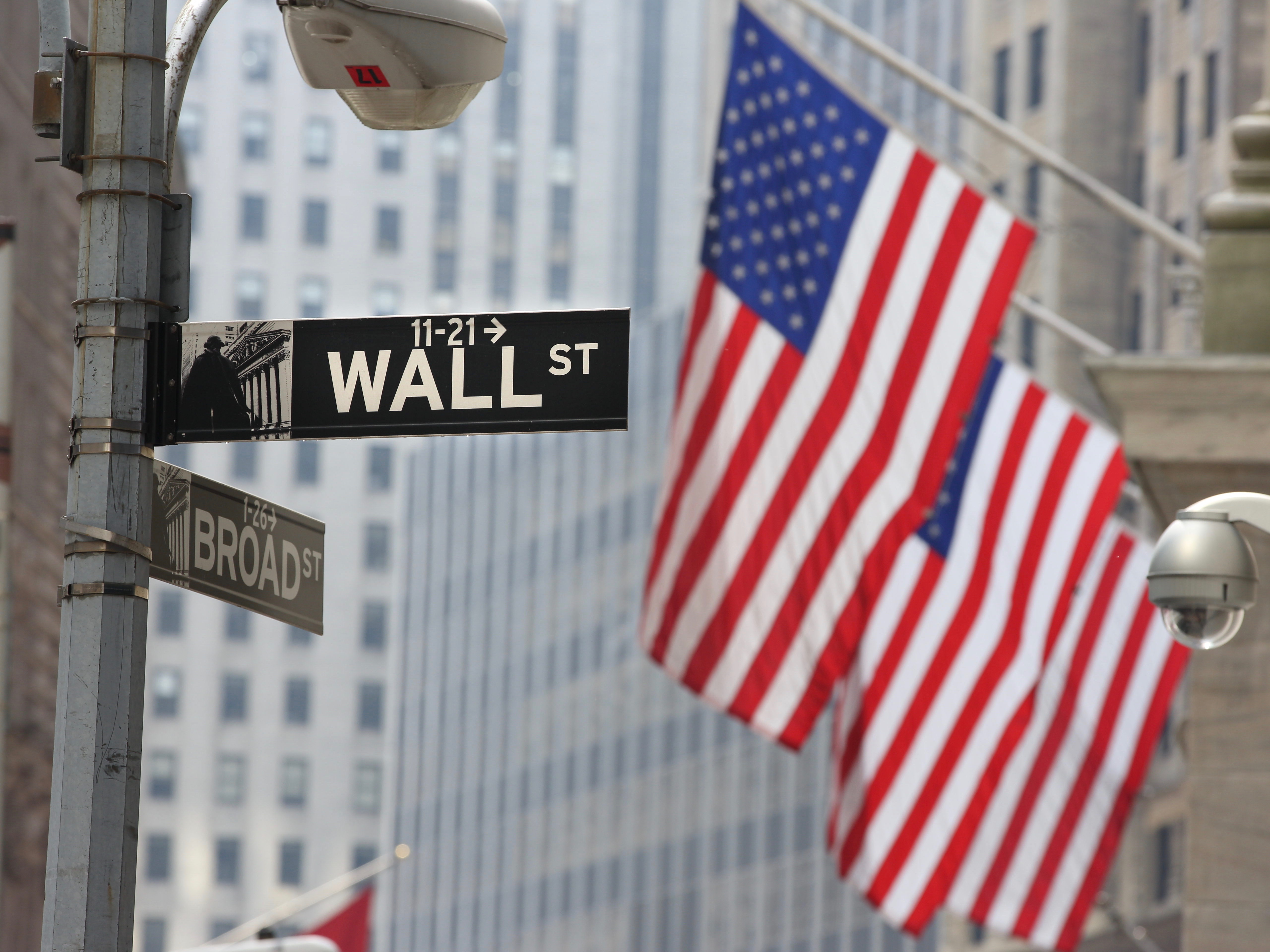 Wall Street and the New York Stock Exchange, Downtown Financial District, Manhattan, New York City,