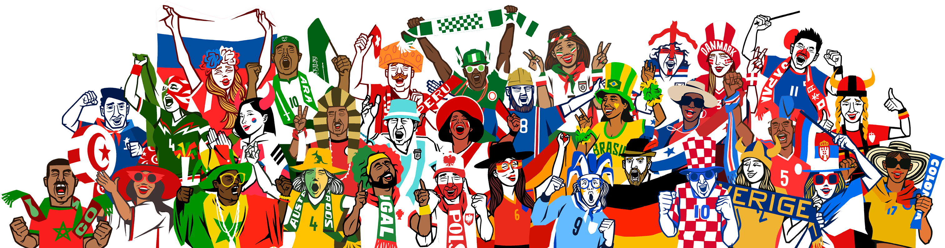 Soccer fans from around the world