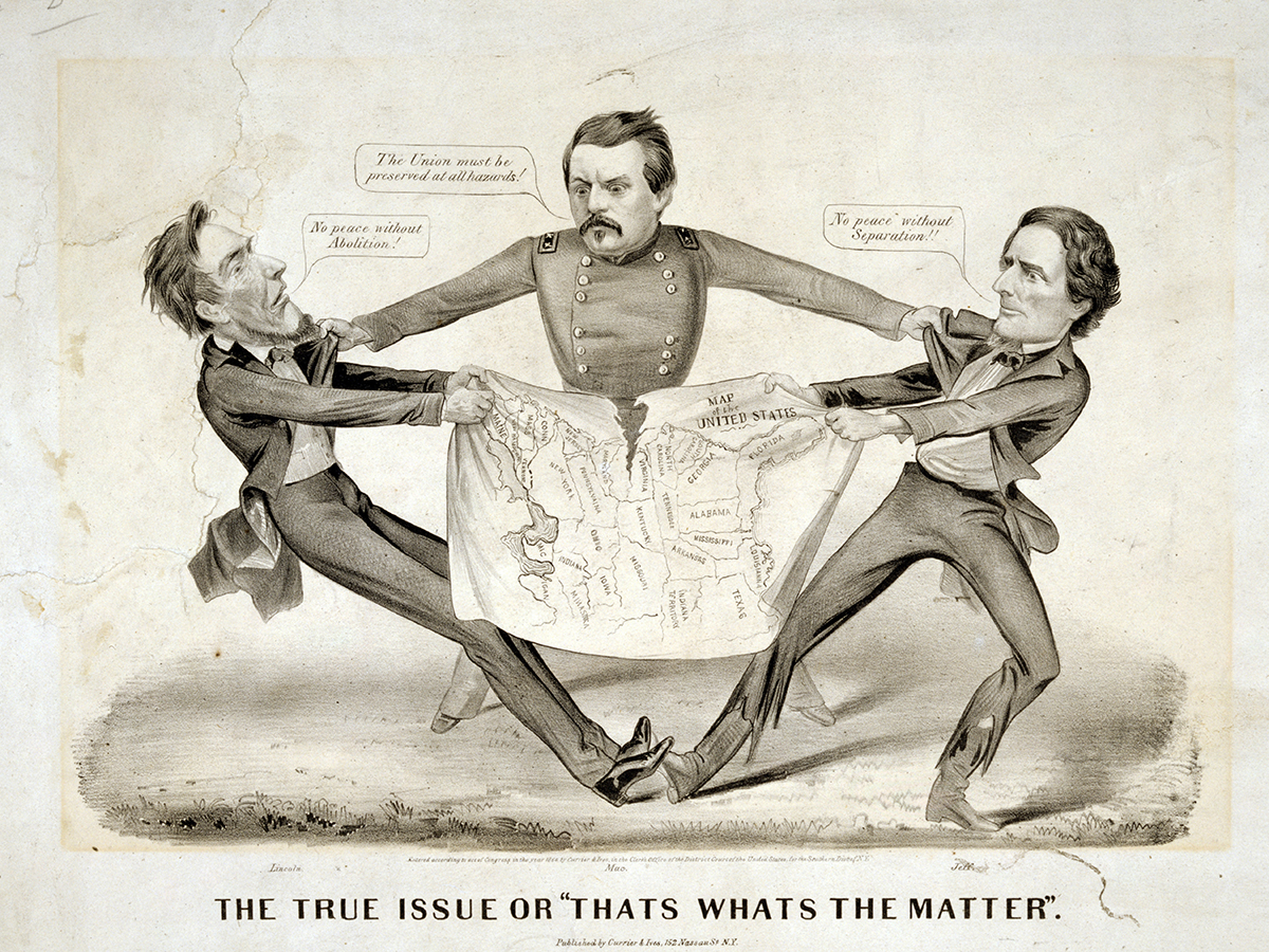 "The true issue or ""That's what's the matter ""by Currier & Ives. c1864."