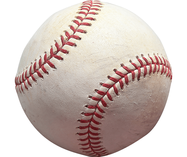 Unassuming photo of a baseball