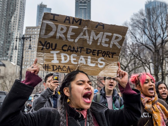 11 undocumented youth and allies began The Walk to Stay Home