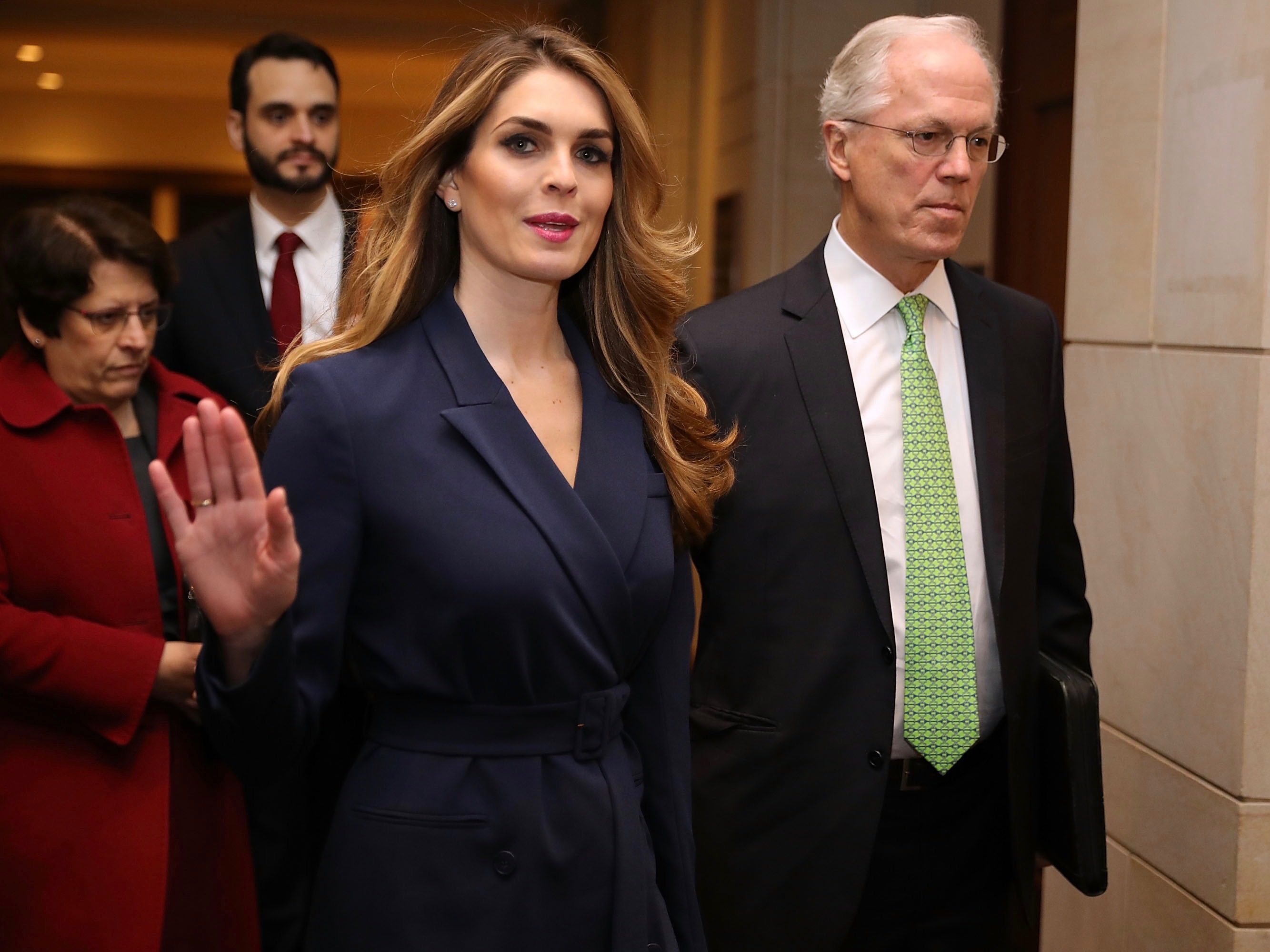 White House Communications Director Hope Hicks Is Interviewed By House Intelligence Committee During Russian Investigation