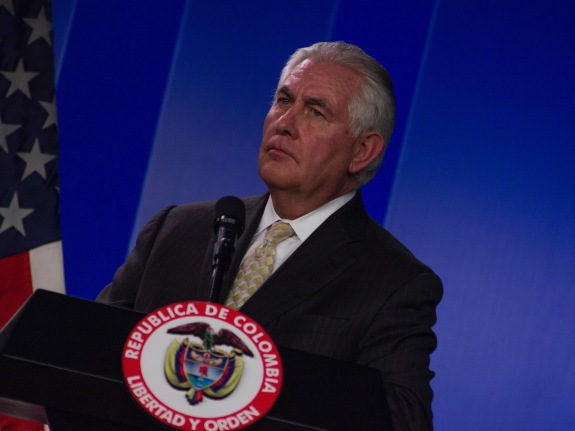 US Secretary of State Rex Tillerson in Colombia