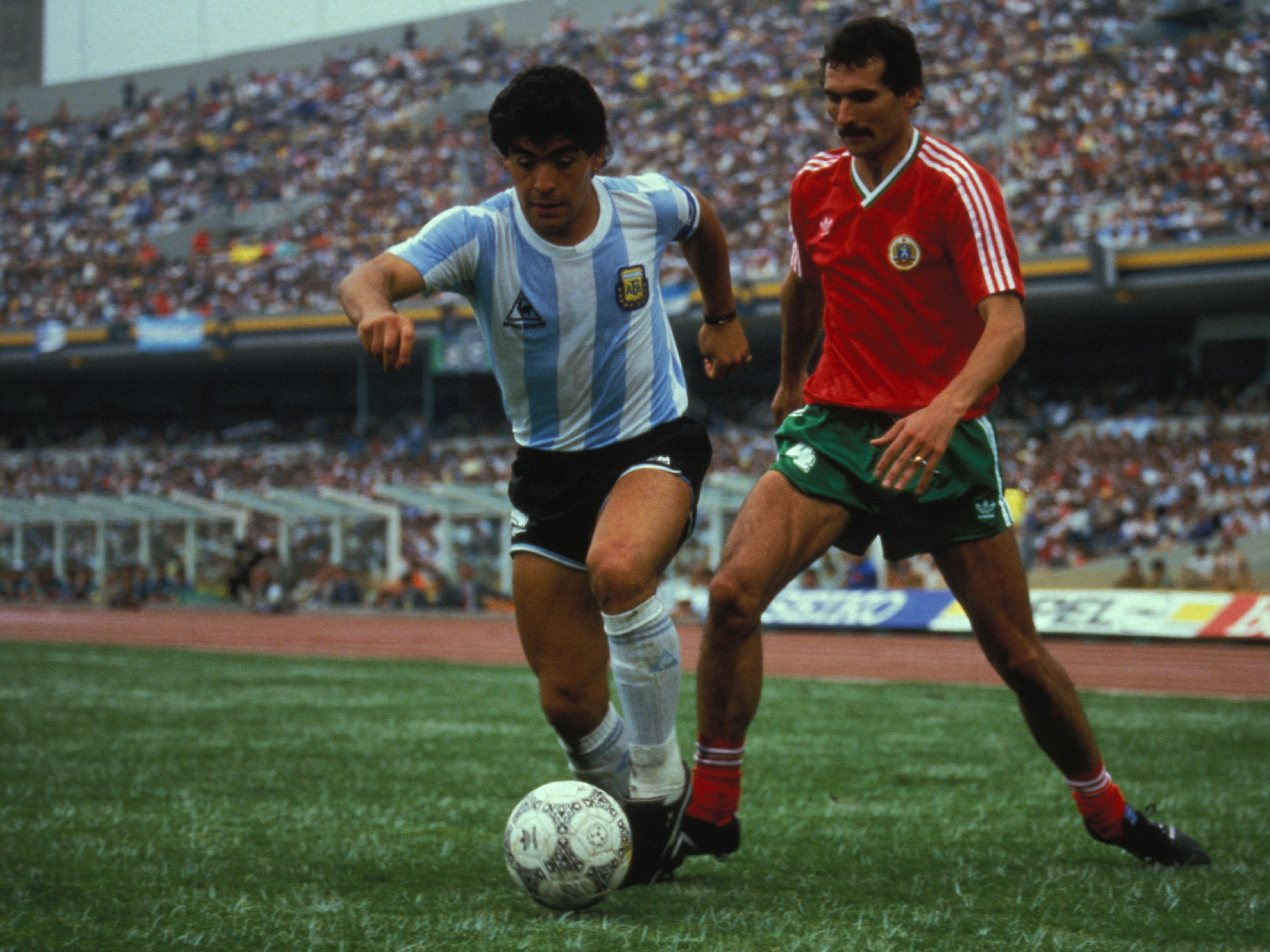 Match Argentine-Bulgarie au Mundial de football 1986