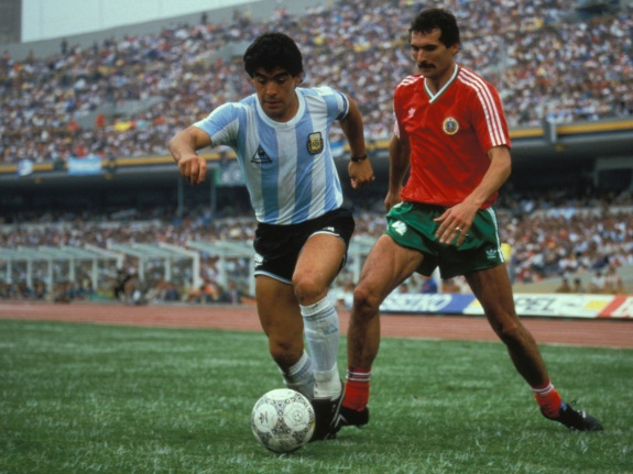 Match Argentine-Bulgarie au Mundial de football 1986