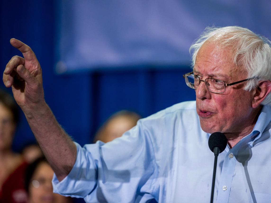KANSAS CITY, KS JULY 20:  Sen. Bernie Sanders (I-Vt.)  speaks i