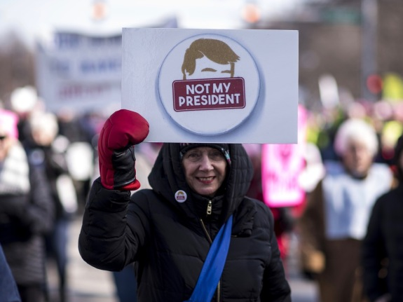 Demonstrators Take Part In The Second Annual Womens March Chicago