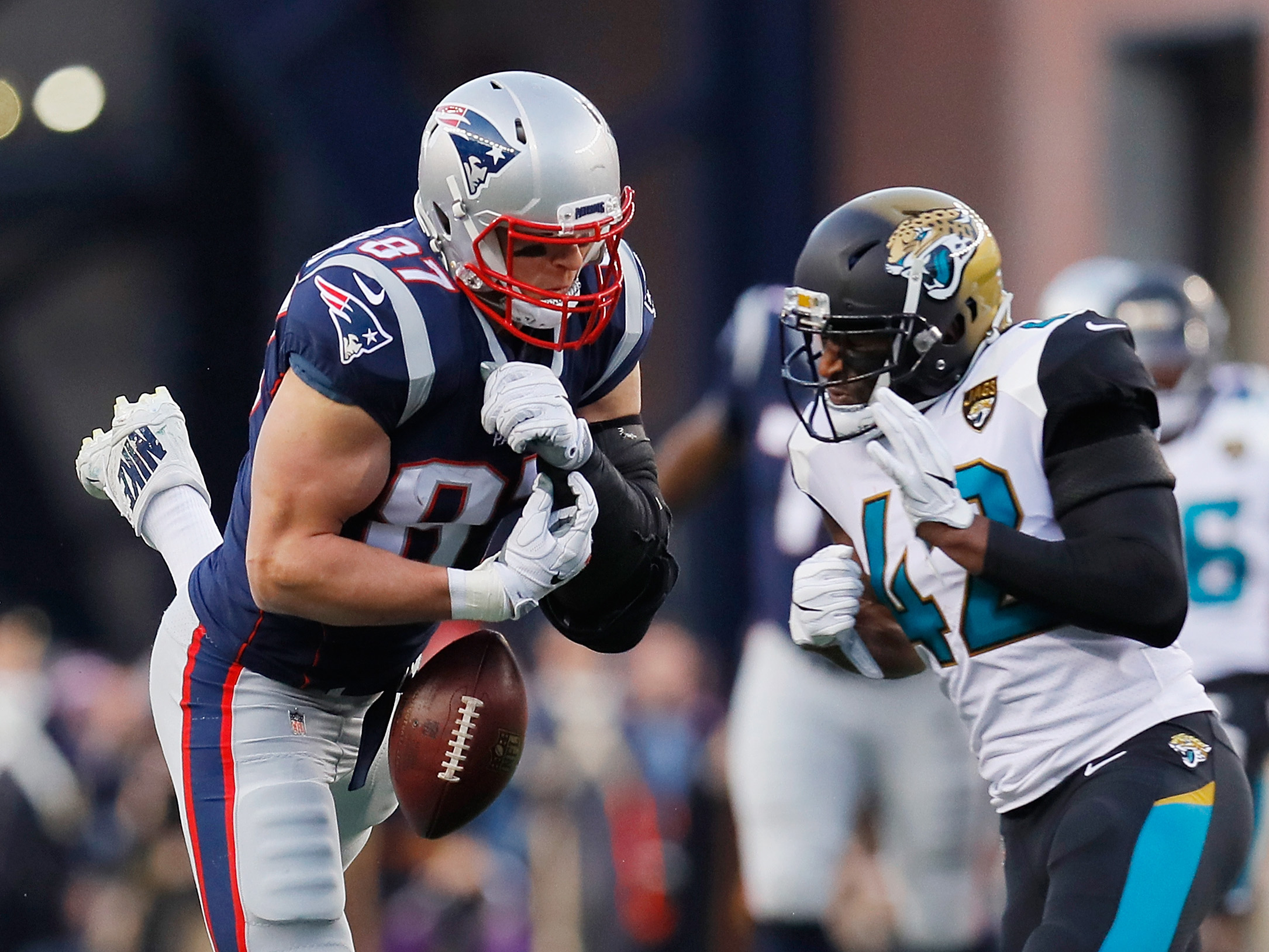 Image result for jalen ramsey and gronkowski