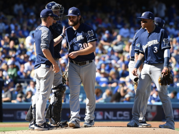League Championship Series – Milwaukee Brewers v Los Angeles Dodgers – Game Five