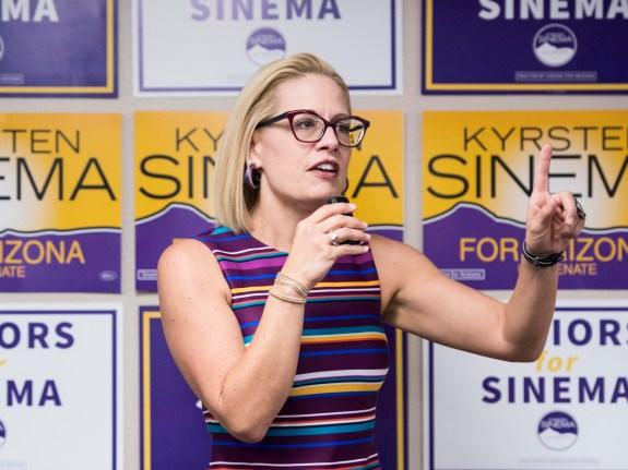 Democratic candidate for U.S. Senate Rep. Kyrsten Sinema