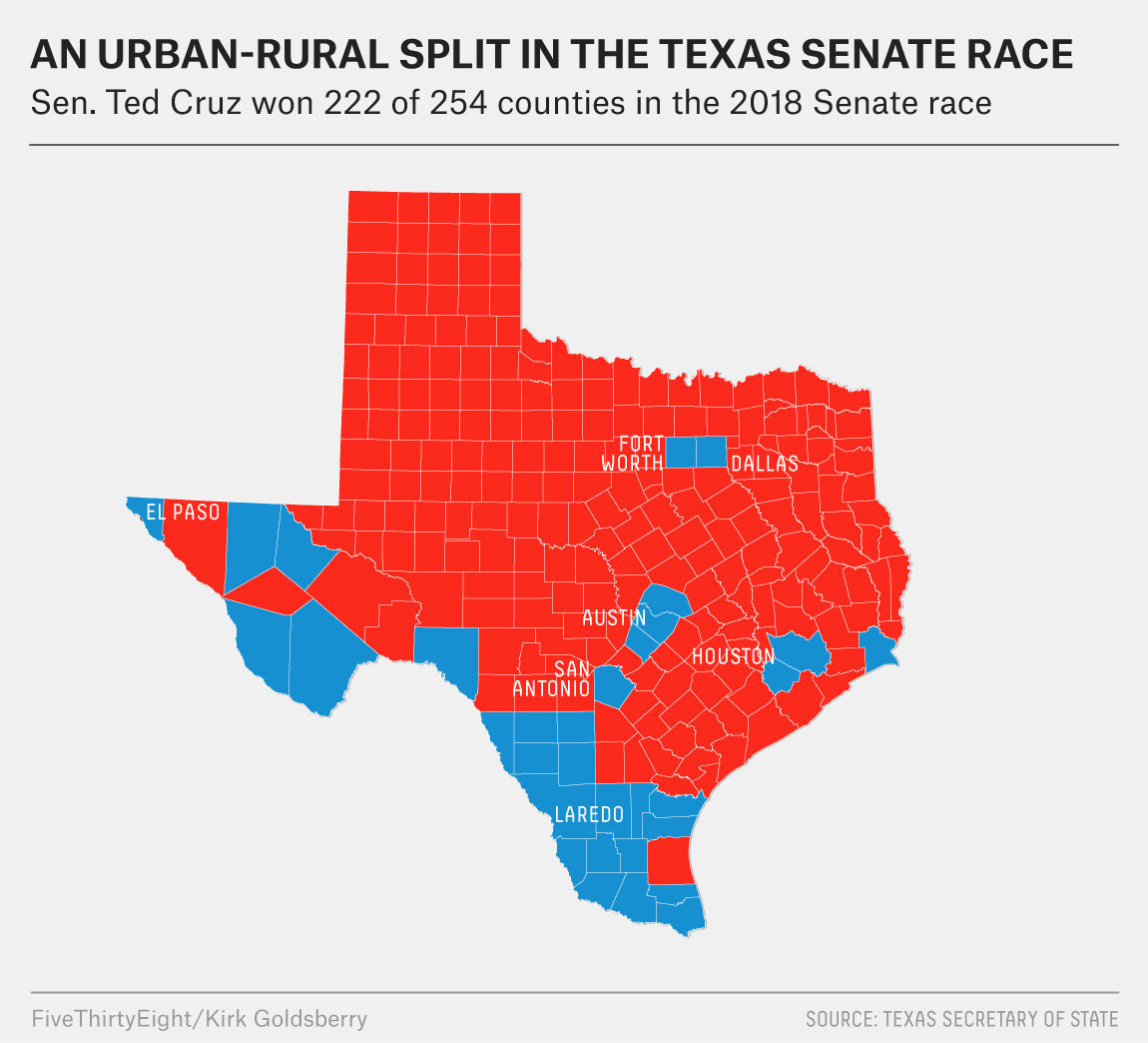 Map Of Texas San Antonio.What Really Happened In Texas Fivethirtyeight