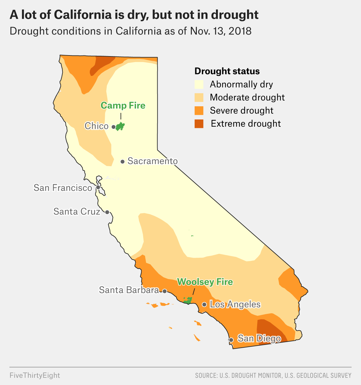 Northern California Fire Map 2018.Camp Fire California Map Map Shows Risk Of Debris Flows In Camp