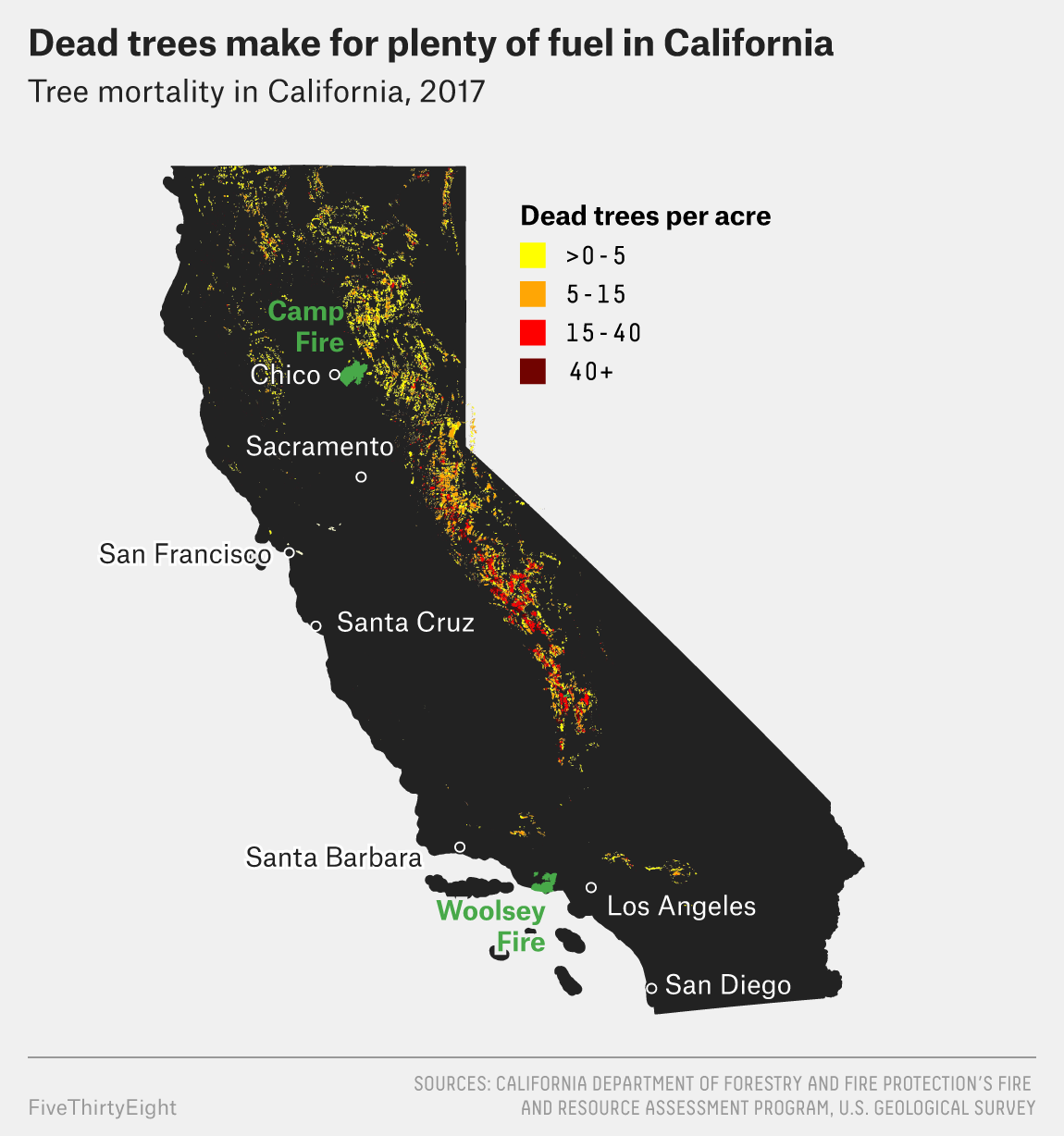 Why California\'s Wildfires Are So Destructive, In 5 Charts ...