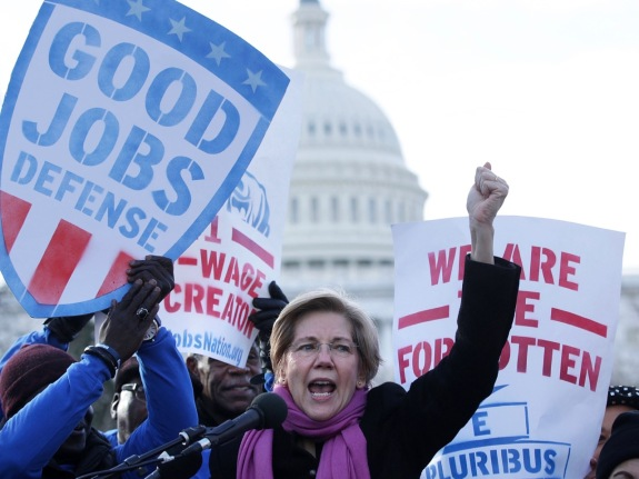 Labor Activists Rally On Capitol Hill After Puzder Withdraws Nomination